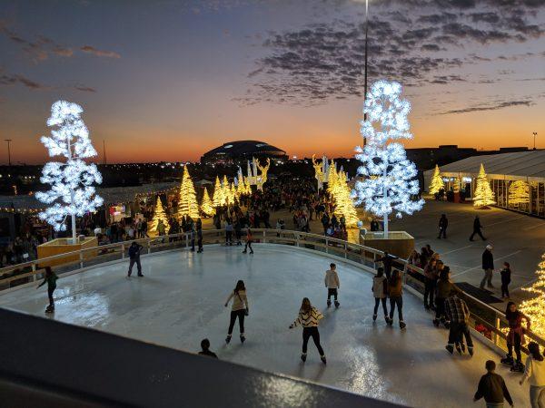 enchant christmas skating pond